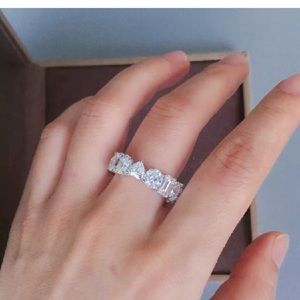 White Sapphire Eternity Band Ring